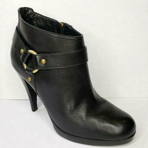 Cole Haan  Leather Harness High Heel Ankle Boots